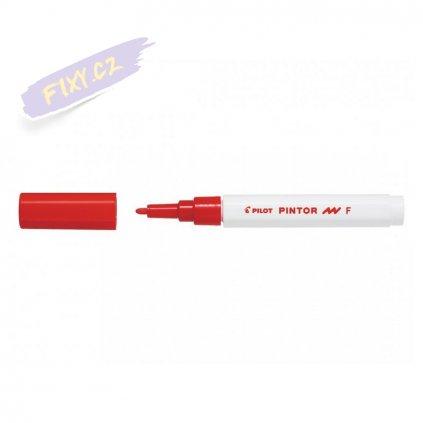 25614 6 pilot pintor akrylovy popisovac f cerveny