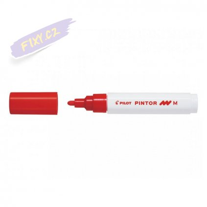 25692 6 pilot pintor akrylovy popisovac m cerveny