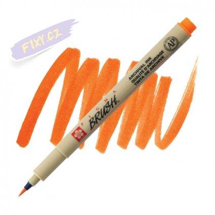 26118 2 sakura pigma micron brush oranzova