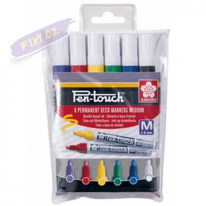 26487 sakura pen touch 2 0mm set 6ks barevne