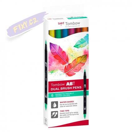 26571 2 tombow abt akvarelovy dual brush pen 6ks dermatological