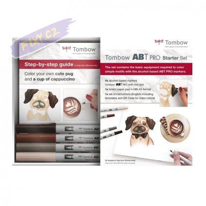 26664 5 tombow abt pro lihovy dual brush pen starter set