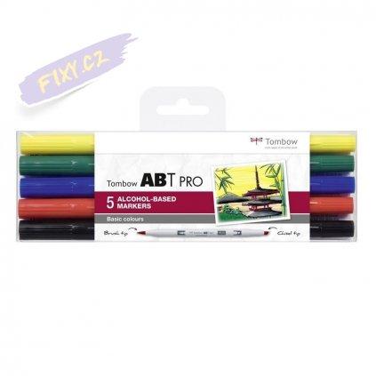 26667 5 tombow abt pro lihovy dual brush pen 5ks zakladni