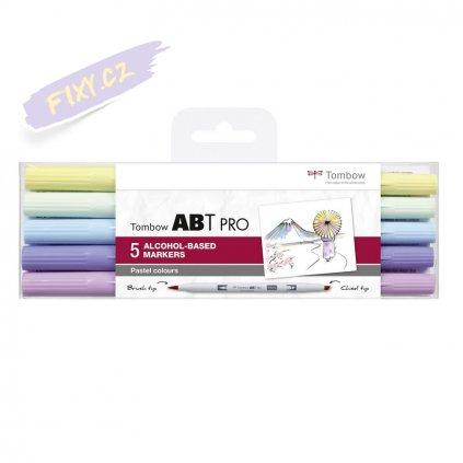 26670 5 tombow abt pro lihovy dual brush pen 5ks pastelove