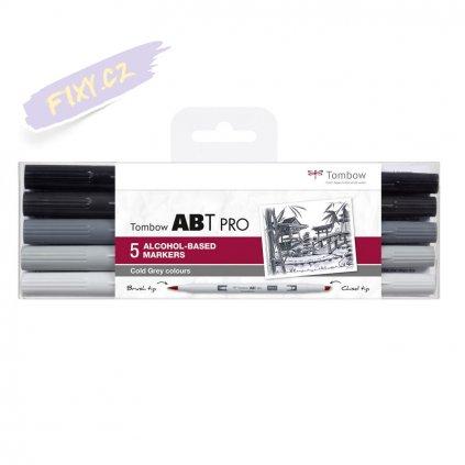 26673 5 tombow abt pro lihovy dual brush pen 5ks sede studene