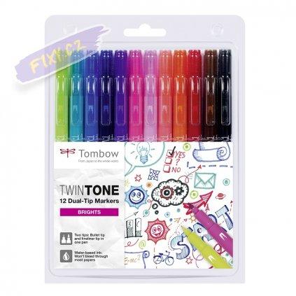 27093 7 tombow twintone 12ks jasne barvy