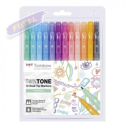 27099 7 tombow twintone 12ks pastelove barvy