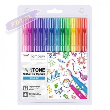 27102 6 tombow twintone 12ks duhove barvy