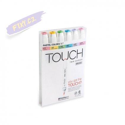 2715 3 touch twin brush marker 6ks pastelove tony