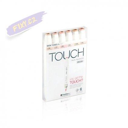 2718 3 touch twin brush marker 6ks pletove tony a