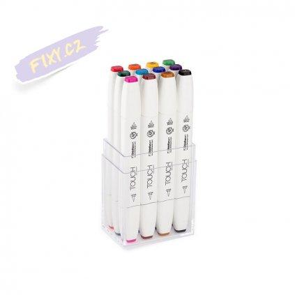 2736 3 touch twin brush marker 12ks zakladni