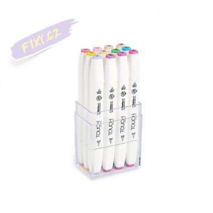 2739 2 touch twin brush marker 12ks pastelove tony