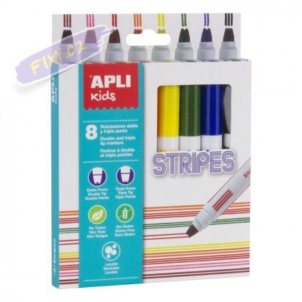 28404 1 apli popisovac na textil kids 8ks stripes