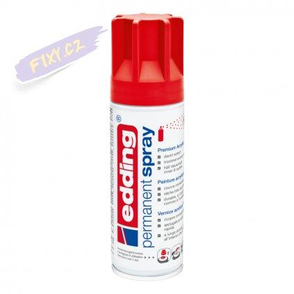 32529 2 akrylovy sprej edding 5200 dopravni cervena matna 902