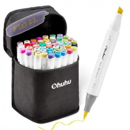 OHUHU Brush Marker, 48ks + blender