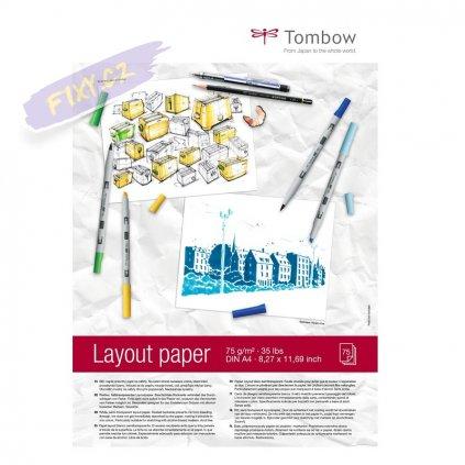 7089 2 blok a4 tombow layout paper 75 listu