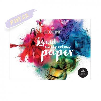 7098 1 blok a4 ecoline liquid watercolor paper 12 listu 24x32cm