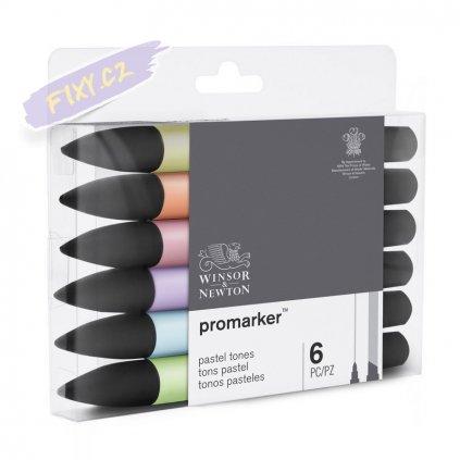 7818 4 winsor newton promarker lihovy 6ks pastel tones