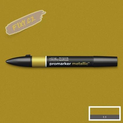 8154 4 winsor newton promarker metallic lihovy gold