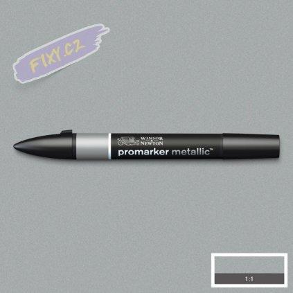 8160 4 winsor newton promarker metallic lihovy silver