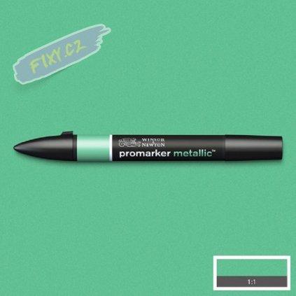8163 4 winsor newton promarker metallic lihovy green