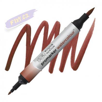 8184 2 winsor newton promarker akvarelovy 061 burnt red