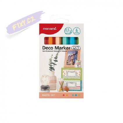 8478 5 monami akrylovy deco marker 463 xf 6ks pastelove