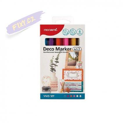 8481 5 monami akrylovy deco marker 463 xf 6ks vivid