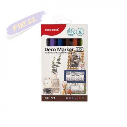 8484 5 monami akrylovy deco marker 463 xf 6ks rich