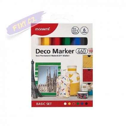 8493 5 monami akrylovy deco marker 460 f 6ks zakladni