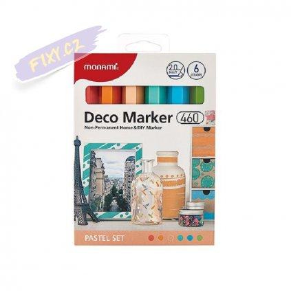 8496 5 monami akrylovy deco marker 460 f 6ks pastelove