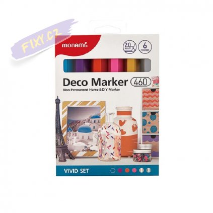 8499 5 monami akrylovy deco marker 460 f 6ks vivid