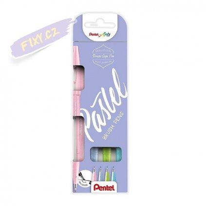 936 1 pentel touch brush sign pen 4ks pastel