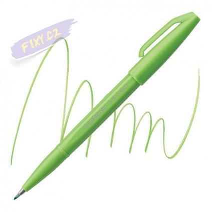 987 4 pentel touch brush sign pen svetle zeleny