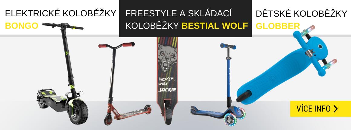 Freestyle a skládací koloběžky
