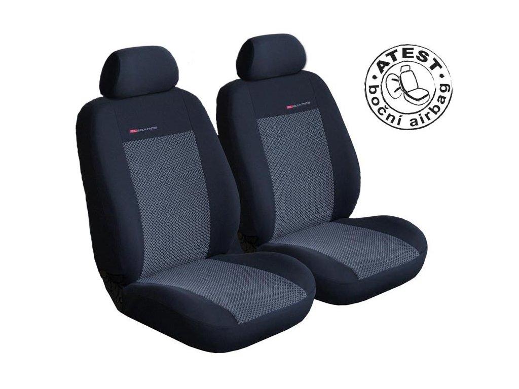 Autopotahy Volkswagen Caddy III, 2 místa, od r. 2003, šedo černé