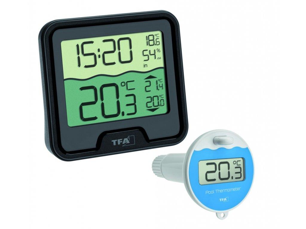 Bezdrátový teploměr TFA 30.3066.01 MARBELLA s plovoucím čidlem na měření teploty vody