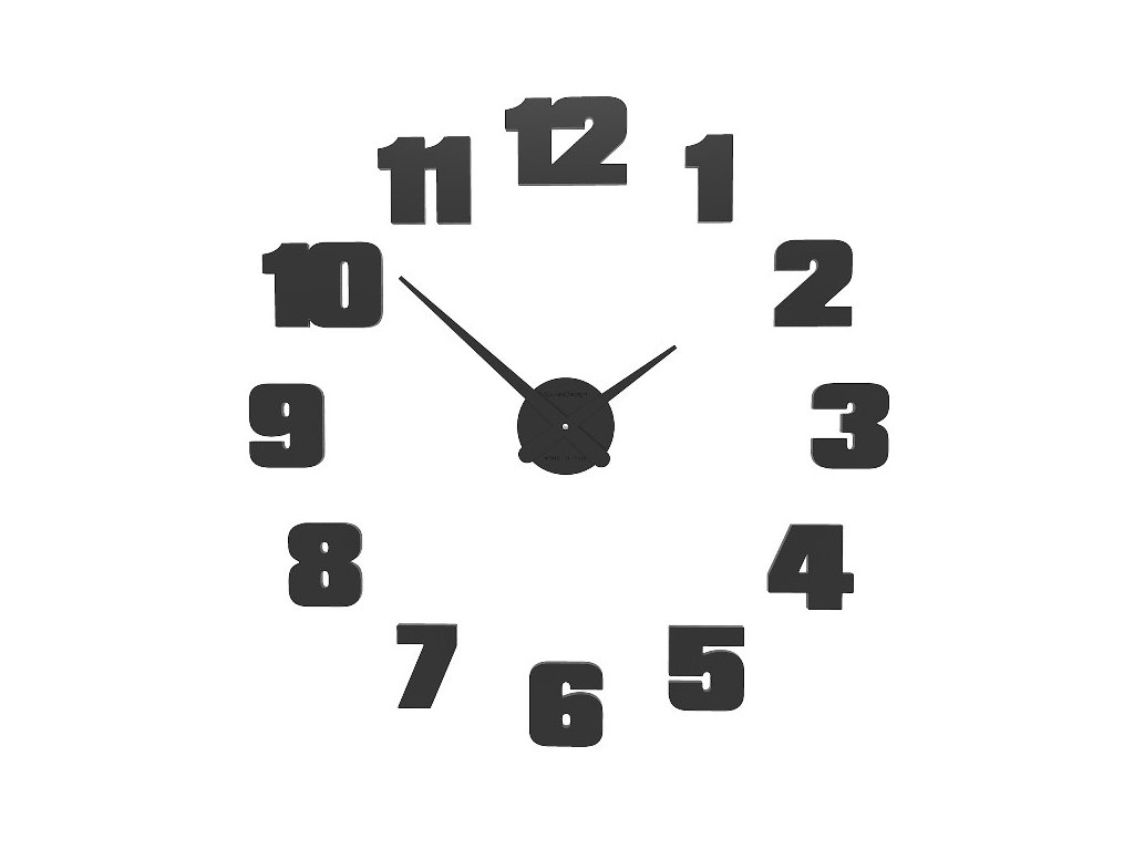 Designové hodiny 10-308 CalleaDesign 65cm (více barev) Barva antracitová černá-4