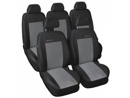 Autopotahy Volkswagen Sharan, od r. 94-2010, 5 míst, šedo černé