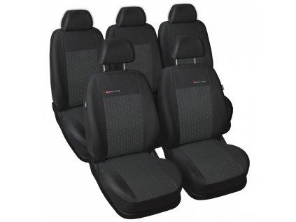 Autopotahy Volkswagen Sharan II, od r. 2010, 5 míst, dětská sedačka, antracit