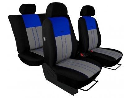 Autopotahy Škoda Octavia III, Tuning Duo, se zadní loketní opěrkou, modrošedé