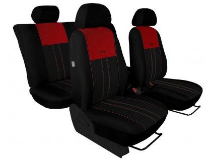 Autopotahy Škoda Octavia I, Tuning Duo, dělené zadní sedadla, vínovočerné