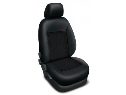 Autopotahy Škoda Octavia I,TOUR, dělená, 5 opěrek hlavy, AUTHENTIC PREMIUM, žakar červený