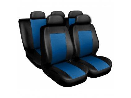 Autopotahy kožené COMFORT černomodré