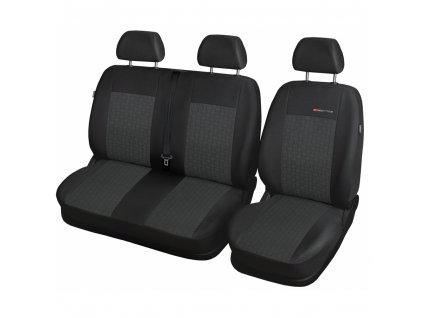 Autopotahy Renault Master IV, 3 místa, dělené dvojopěradlo a sedadlo, od 2010, antracit