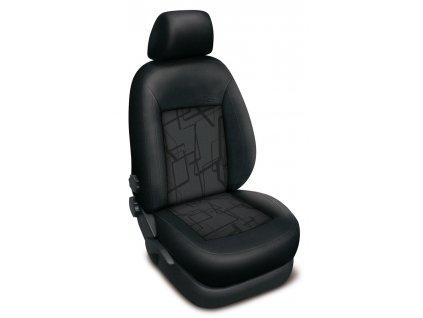 Autopotahy Volkswagen T5 8 míst, 1+1-2+1-3, od r. 2003, AUTHENTIC PREMIUM matrix šedý