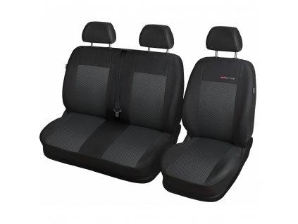 Autopotahy Opel Movano B, 3 místa, dělené dvojopěradlo a sedadlo, od r. 2010, černé