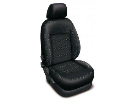 Autopotahy Volkswagen CADDY IV, 5 míst, od r. 2015, AUTHENTIC DOBLO, vlnky černé