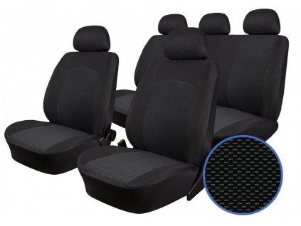Autopotahy PEUGEOT 206, dělené opěradlo a sedadlo, od r. 1998, Dynamic žakar tmavý