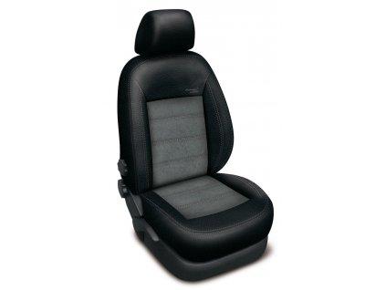 Autopotahy TOYOTA COROLLA XI sedan, od r. 2013-2019, AUTHENTIC VELVET, černo šedé